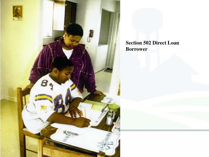 Section 502 Direct Loan Borrower