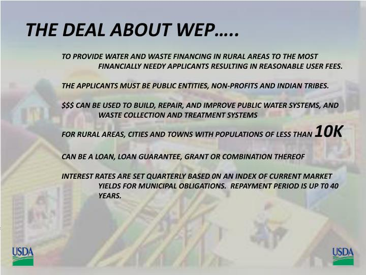 THE DEAL ABOUT WEP…..