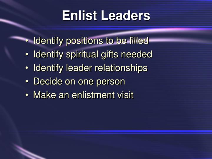 Enlist Leaders