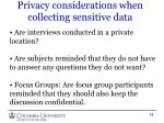 privacy considerations when collecting sensitive data