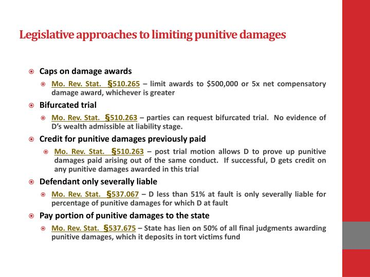 punitive damages to products liability essay Problems in assessing punitive damages against manufacturers of defective products an essay on the civil-criminal distinction with special reference to punitive damages mut punitive damages and enterprise liability if restitution were substituted for punitive damages.