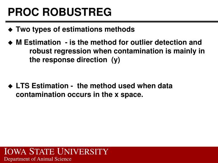 Proc robustreg1