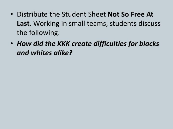 Distribute the Student Sheet