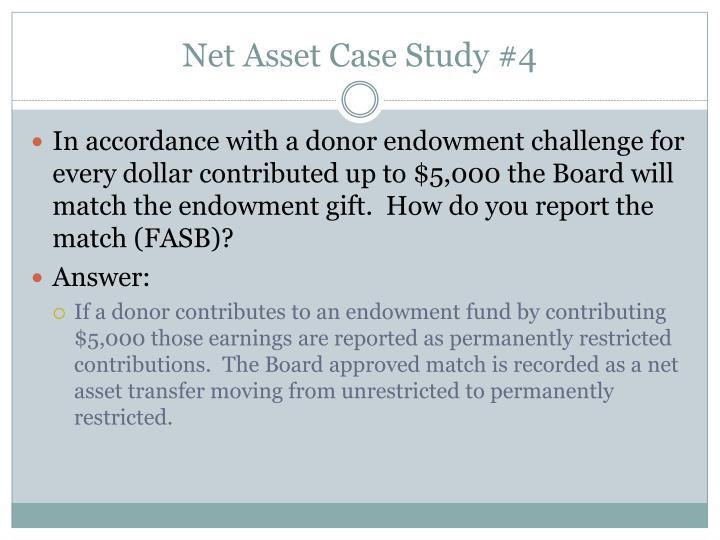 Net Asset Case Study #4
