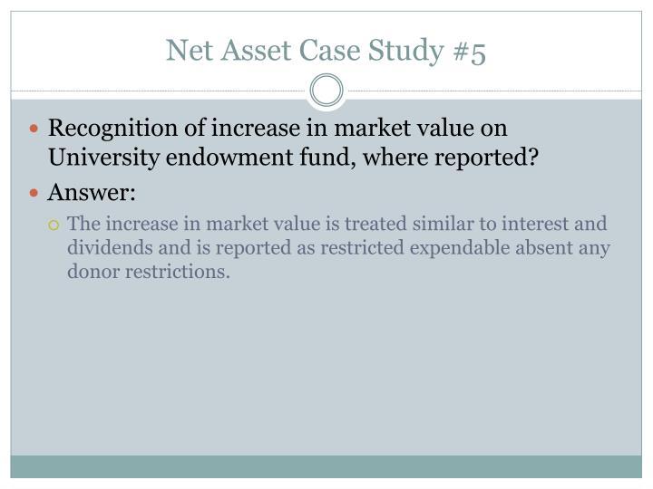 Net Asset Case Study #5