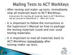mailing tests to act workkeys