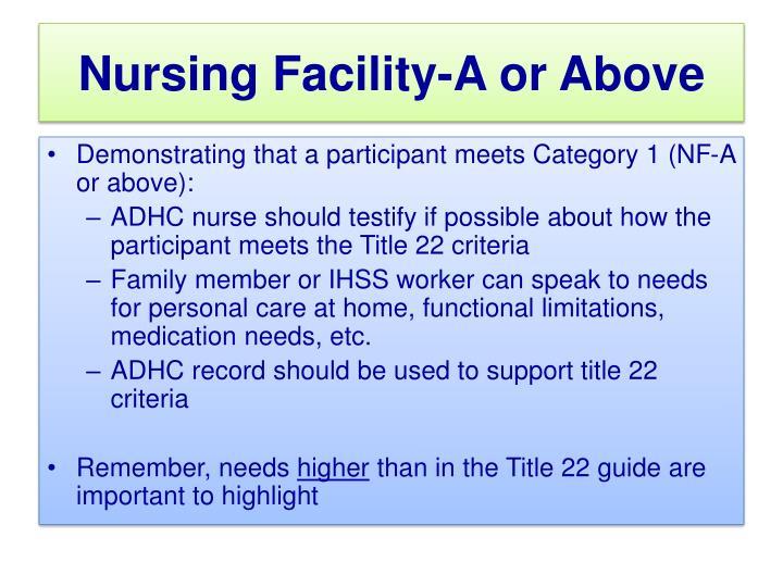 Nursing Home Functional Eligibility Criteria