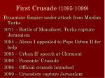 first crusade 1095 1099