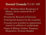 second crusade 1147 49
