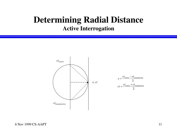 Determining Radial Distance