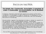 focus on the fha