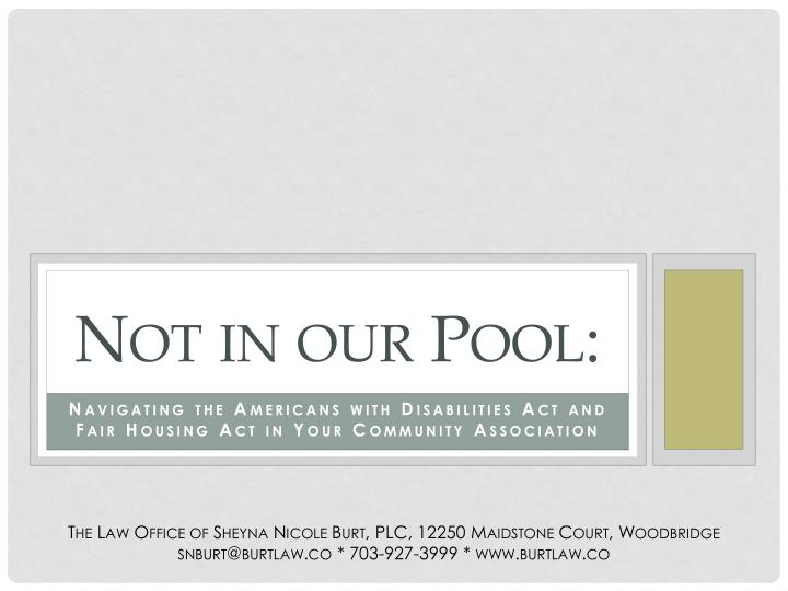not in our pool
