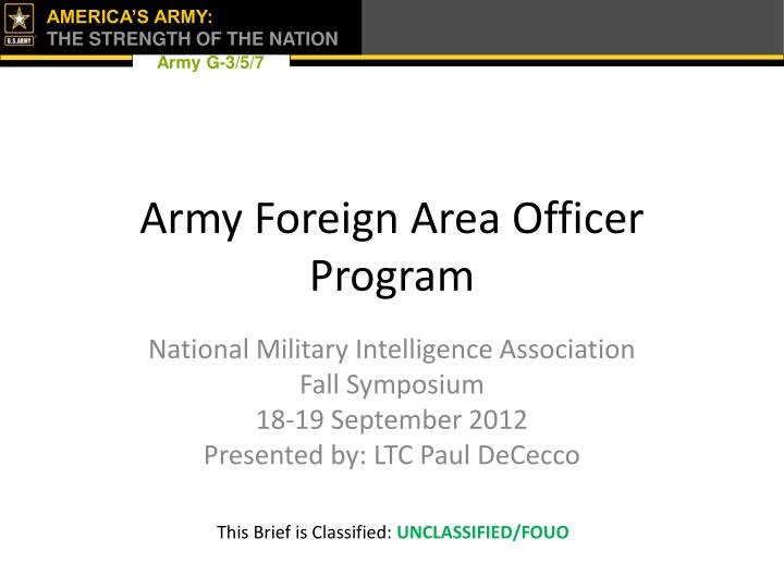 army foreign area officer program n.