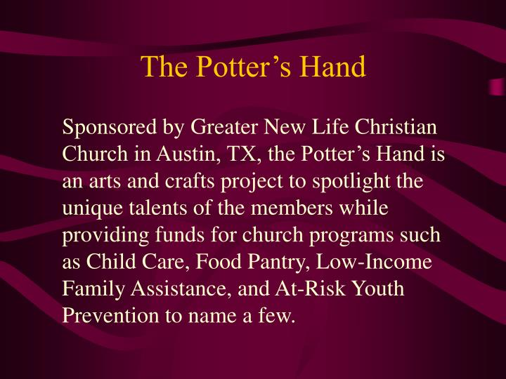 The potter s hand1