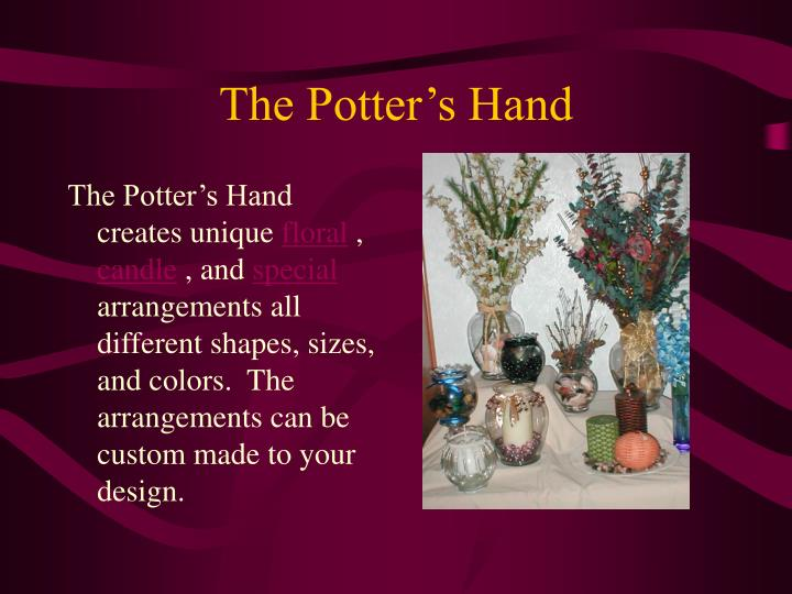 The potter s hand2