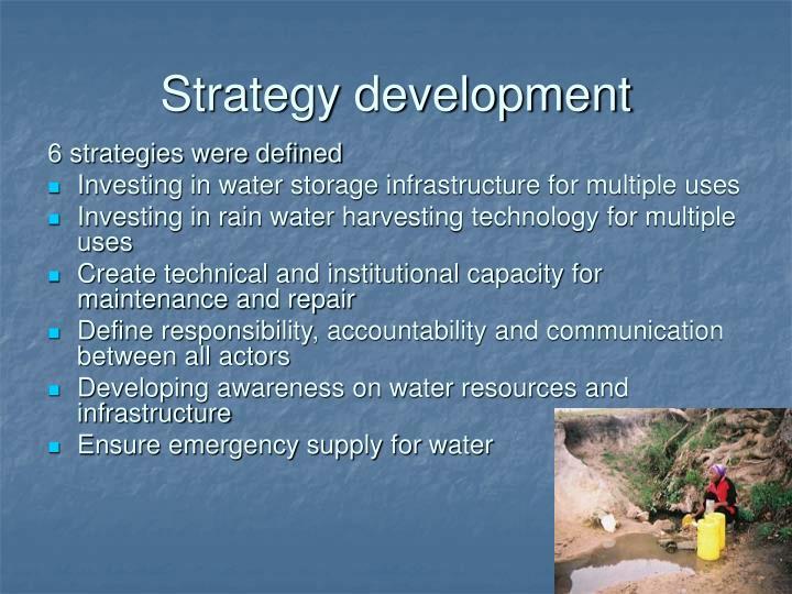 Strategy development