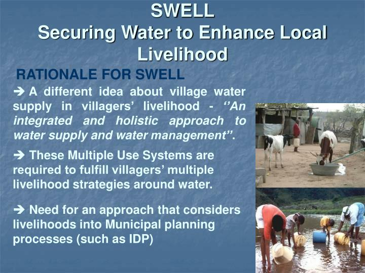 Swell securing water to enhance local livelihood2