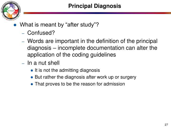 admitting diagnosis