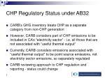 chp regulatory status under ab32