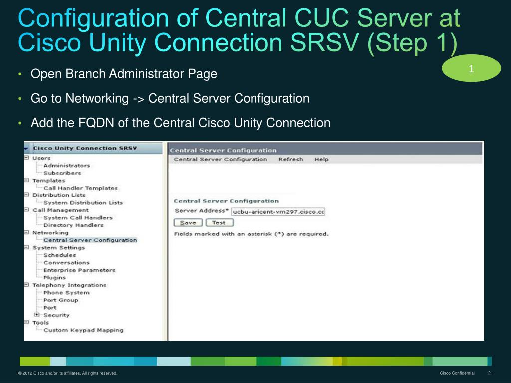 PPT - Cisco Unity Connection SRSV 9 1(1) PowerPoint
