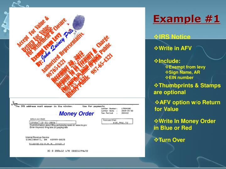 Accept  For Value &            Return For Value                      For Settlement & Closure      Exempt From Levy                    By: