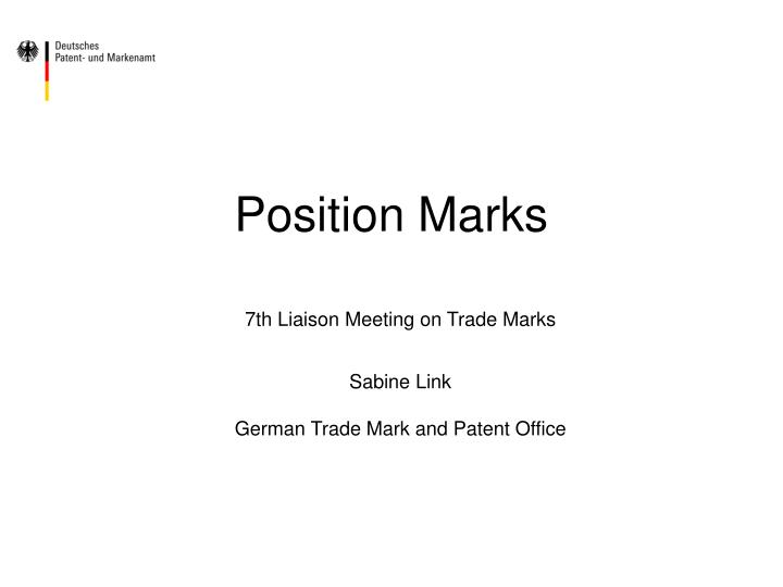Position marks