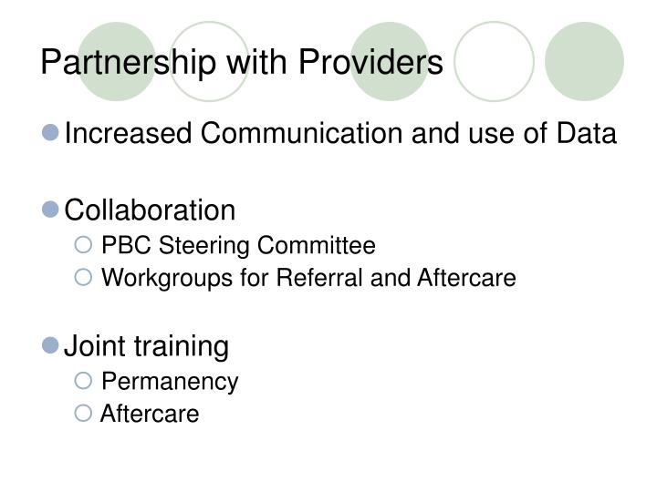 Partnership with Providers