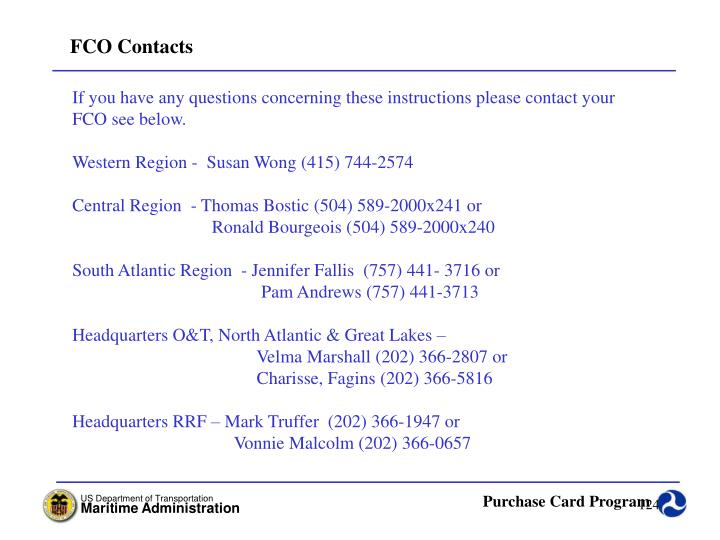 FCO Contacts