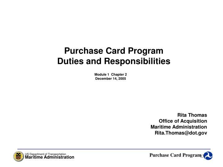 Purchase Card Program