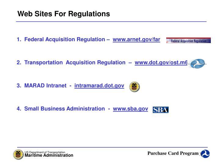 Web Sites For Regulations