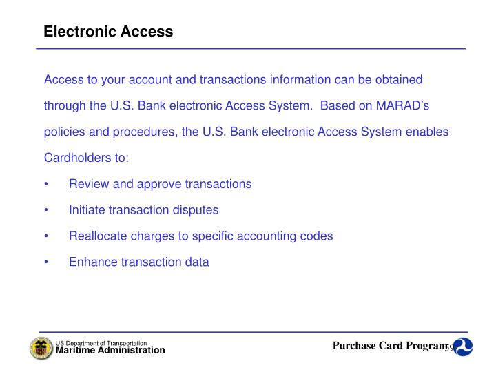 Electronic Access