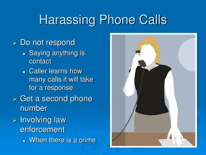 Harassing Phone Calls