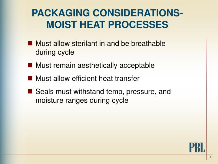 PACKAGING CONSIDERATIONS-