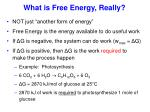 what is free energy really