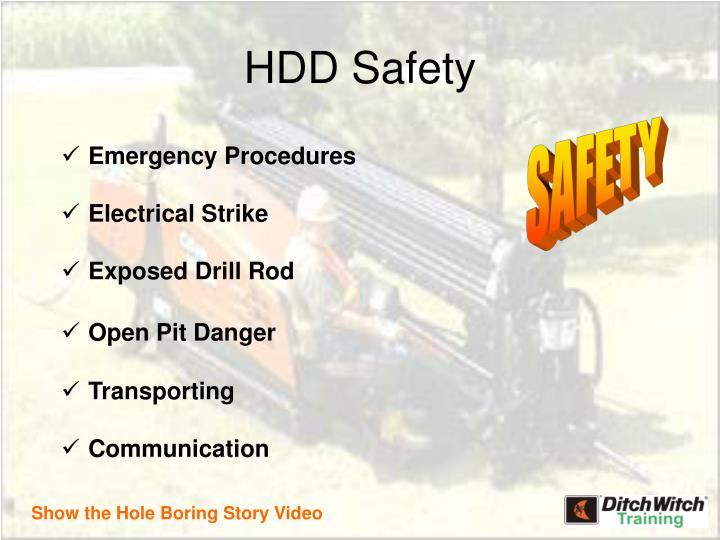 Hdd safety