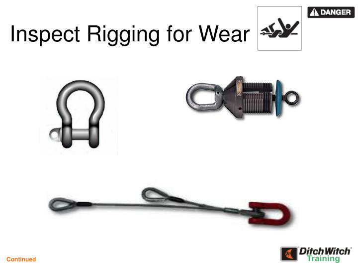 Inspect Rigging for Wear