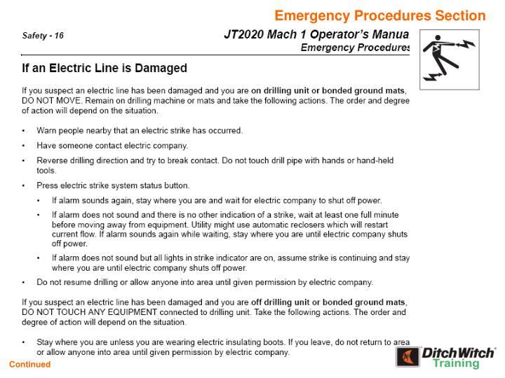 Emergency Procedures Section