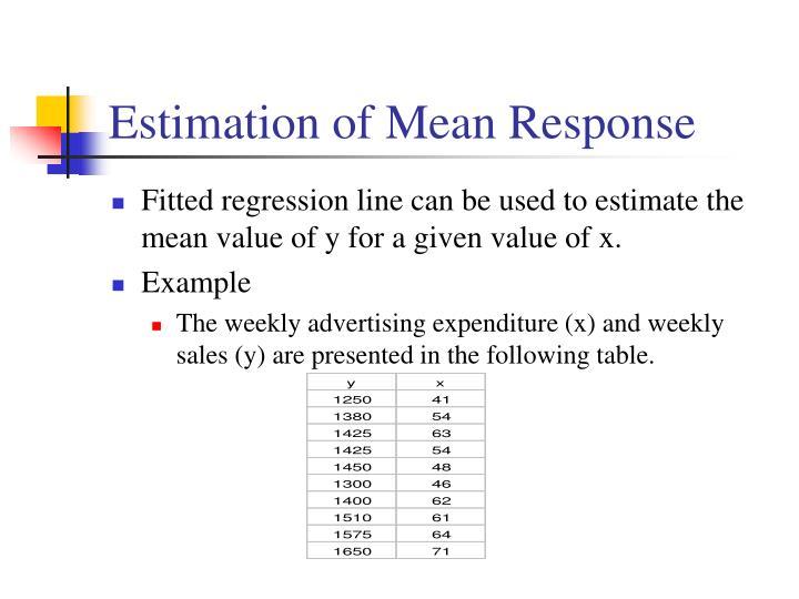 Estimation of Mean Response