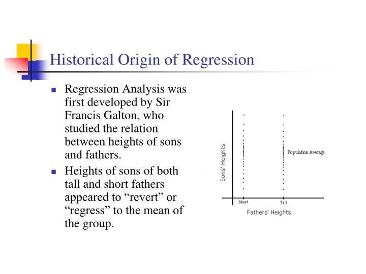 Historical Origin of Regression