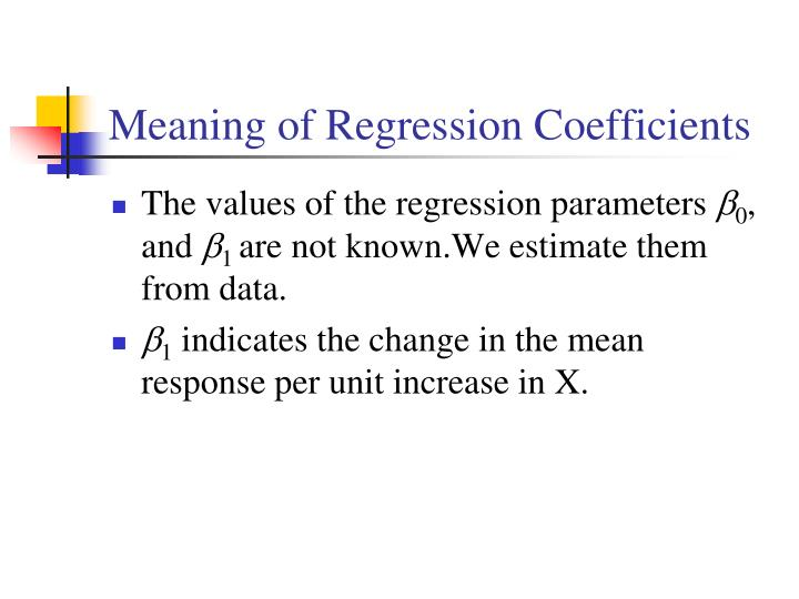 Meaning of Regression Coefficients