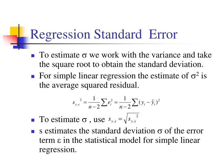 Regression Standard  Error