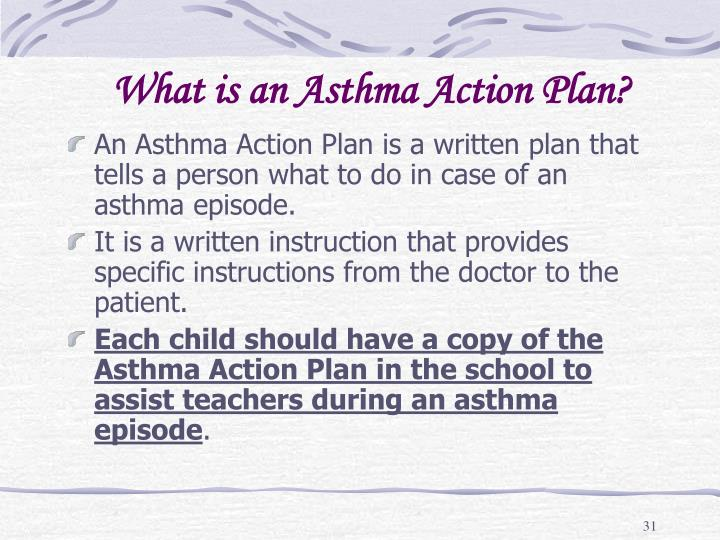 What is an Asthma Action Plan?