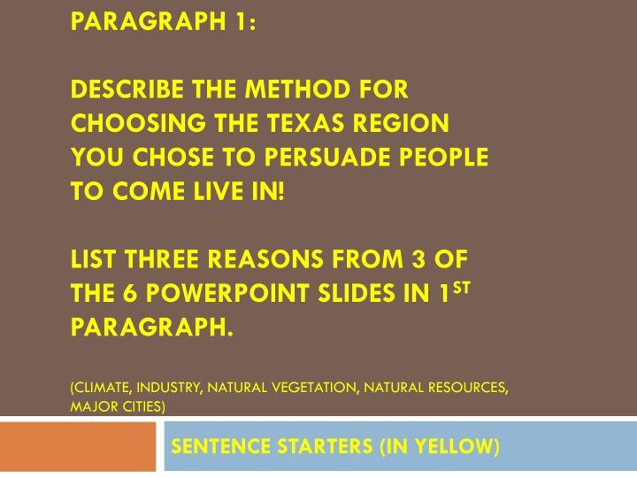 PARAGRAPH 1: