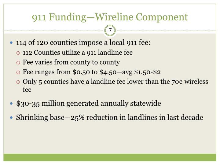 911 Funding—Wireline Component