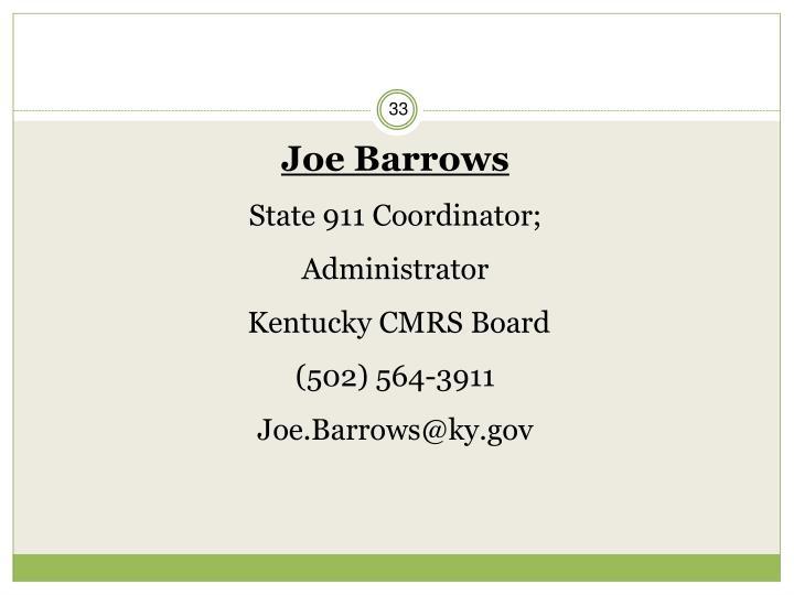Joe Barrows
