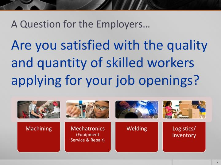 A question for the employers