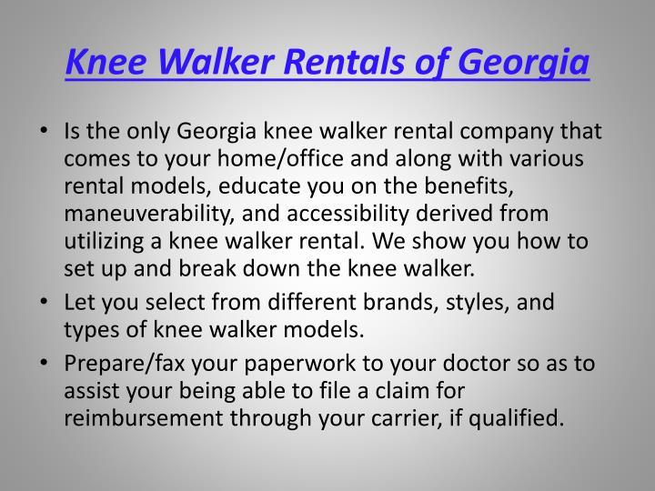 Knee walker rentals of georgia