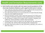 health and sanitation requirements cont2