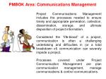 pmbok area communications management