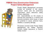 pmbok area construction extension project safety management